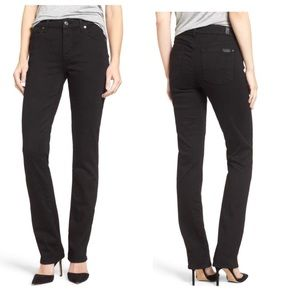 7 for all Mankind Straight leg Jeans Black Wash 27